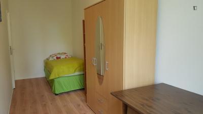 Single bedroom in a student flat, in Moabit