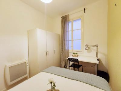 Comfy double bedroom near Parque del Retiro