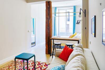 Spacious and cool 1-bedroom apartment near the Puerta de Toledo campus of Universidad Carlos III