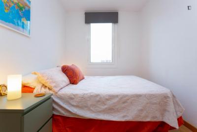 Well-lit 1-bedroom flat, with outdoor area, in Hostafrancs