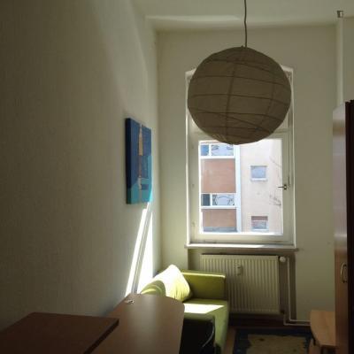 Snug single bedroom in a 3-bedroom flat in Neukölln