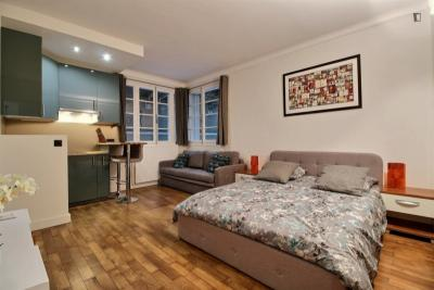 Fantastic studio apartment in Paris near Jasmin subway station