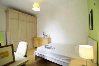 Luminous double bedroom near the Earl's Court tube