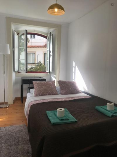 Very charming double bedroom in typical Bica