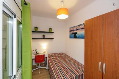 Very nice double bedroom near the Virrei Amat metro