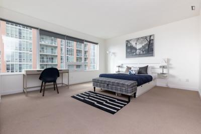 Large double bedroom in a 3-bedroom flat