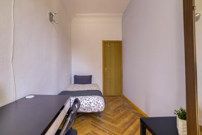 Single bedroom in a 10-room apartment in green and historical area