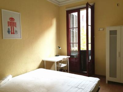 Central double bedroom near the Universitat de Barcelona