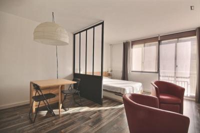Fantastic studio apartment in Paris, near Jasmin metro station