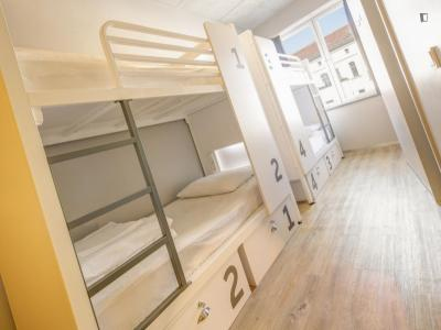 Bed in a 6 bed dorm