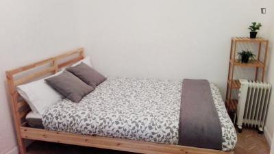Fancy double bedroom in a 12-bedroom flat, located near the Plazza del Callao