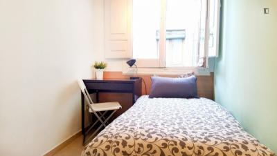 Cosy single bedroom in Atocha