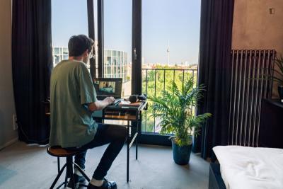 Bright studio in modern residence long term