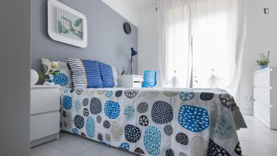 Inviting double bedroom in Chiesa Rossa