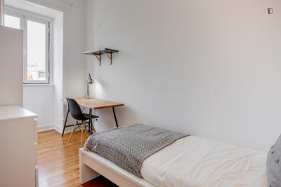 Incredible single bedroom in Lisbon