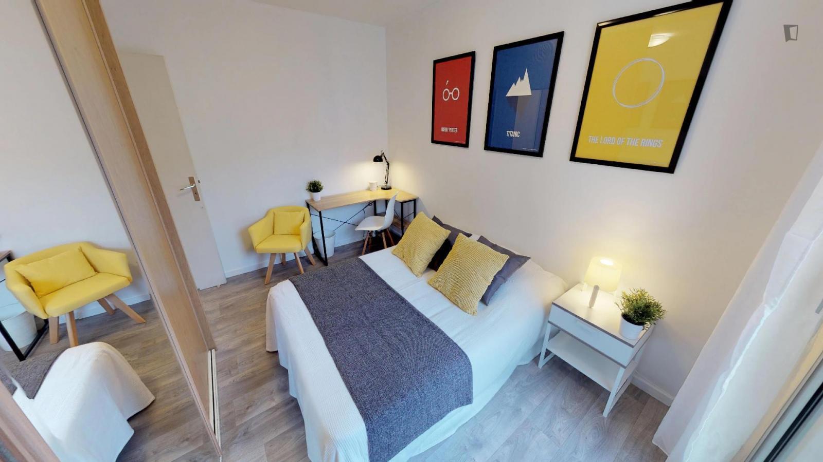 Rue du Bourbonnais, Lyon, MS - 537 USD/ month