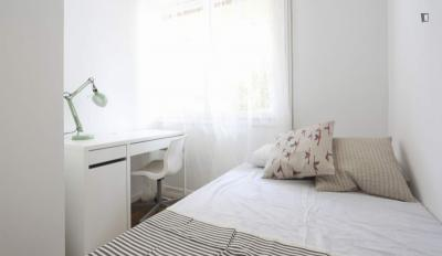 Tasteful double bedroom in well-connected La Guindalera
