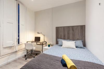 Lovely double bedroom close to Facultat de Filosofia - Universitat de Barcelona