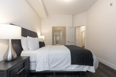 Well-equipped double ensuite bedroom in Entertainment District