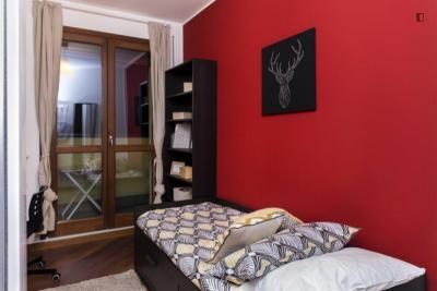 Nice single bedroom near Corvetto metro station