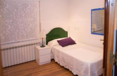 Cool single bedroom in a 3-bedroom apartment near Parque del Oeste