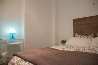 Pleasant double bedroom in trendy Lavapiés neighbourhood