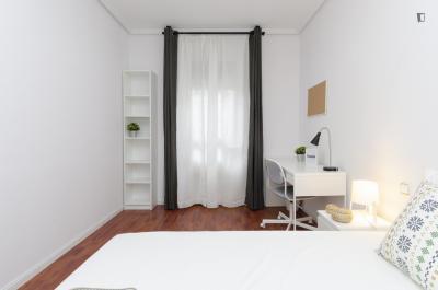 Fancy double bedroom in Guindalera