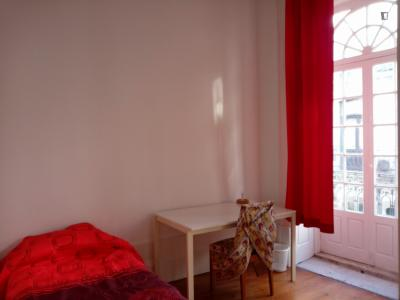 Lovely 2-bedroom apartment near the Aliados metro, with balconies and a garden!