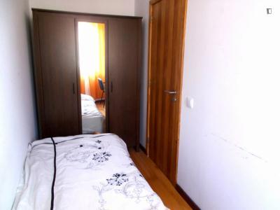 Chambre simple dans un appartement de 3 chambres
