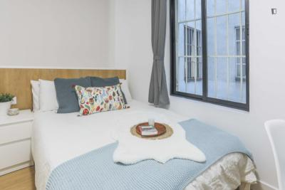 Tasteful  double bedroom in a student flat, in Arguelles