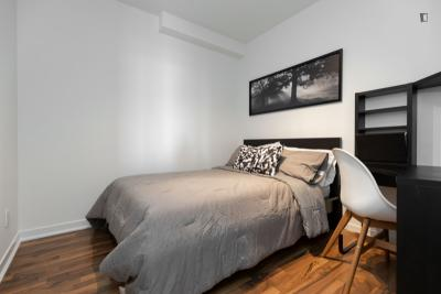 Comfy double bedroom in Liberty Village