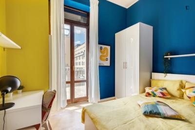 Pokój z podwójnym łóżkiem, z balkonem, w rezydencja