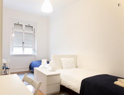 Amazing twin bedroom in São Sebastião
