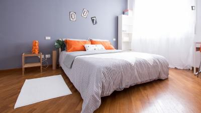 Elegant double bedroom near Piazale Tripoli