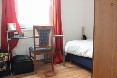 Pleasant bedroom in a 3-bedroom flat