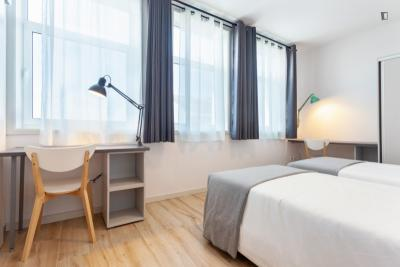 Pleasant and well-connected twin ensuite bedroom close to Norte Shopping and Porto Business School