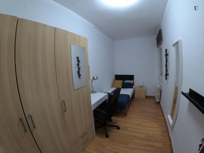 Enjoyable single bedroom in a student flat, in Dreta de l'Eixample