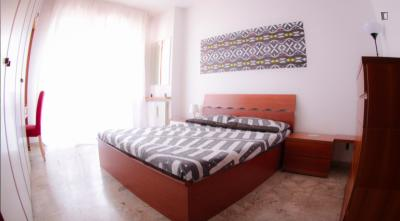 Cheerful double bedroom close to Parco Monte Stella
